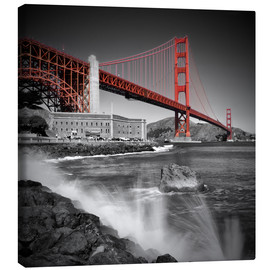 Lienzo  Golden Gate Bridge Fort Point - Melanie Viola