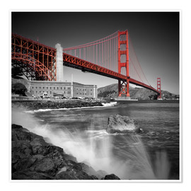 Póster  Golden Gate Bridge Fort Point - Melanie Viola