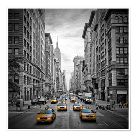 Póster NEW YORK CITY 5th Avenue Traffic