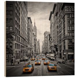 Cuadro de madera  NEW YORK CITY 5th Avenue Traffic - Melanie Viola