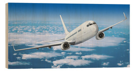 Cuadro de madera  Passenger airline over the clouds - Kalle60
