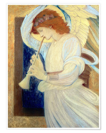 Póster An Angel Playing a Flageolet