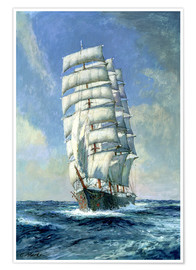 Póster  Unnamed clipper ship - Claude Marks
