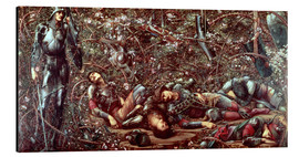 Cuadro de aluminio  Briar Rose - The Briar Wood - Edward Burne-Jones