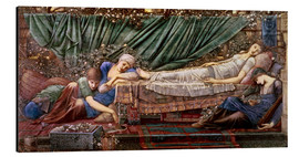 Cuadro de aluminio  Briar Rose - The Rose Bower - Edward Burne-Jones