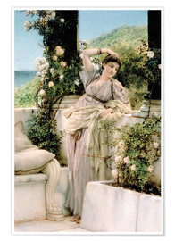 Póster  Thou Rose of All the Roses - Lawrence Alma-Tadema