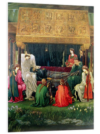 Cuadro de PVC  The last sleep of Arthur in Avalon, 1881-98 - Edward Burne-Jones
