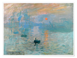 Póster  Sunrise - Claude Monet