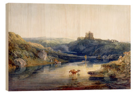Cuadro de madera  Norham Castle: Summer's Morn - Joseph Mallord William Turner