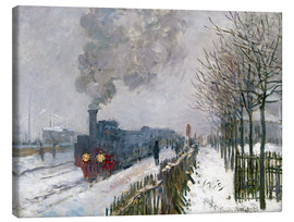 Lienzo  Train in the Snow (The Locomotive) - Claude Monet