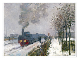 Póster  Train in the Snow (The Locomotive) - Claude Monet