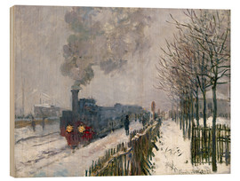 Madera  Train in the Snow (The Locomotive) - Claude Monet