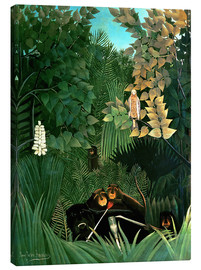 Lienzo  The monkeys - Henri Rousseau