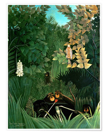 Póster  The monkeys - Henri Rousseau