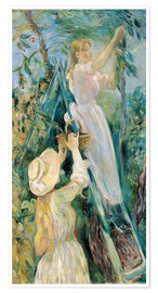 Póster  The Cherry Pickers - Berthe Morisot