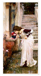 Póster  El santuario - John William Waterhouse