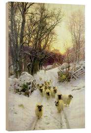 Cuadro de madera  The Sun Had Closed the Winter's Day - Joseph Farquharson