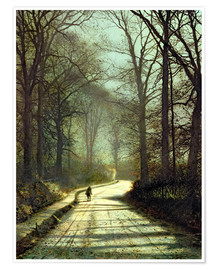 Póster  Moonlight Walk - John Atkinson Grimshaw