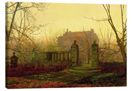 Lienzo  Autumn Morning - John Atkinson Grimshaw