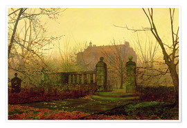 Póster  Autumn Morning - John Atkinson Grimshaw