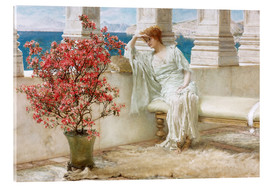 Cuadro de metacrilato  Her eyes are with her thoughts and they are far away - Lawrence Alma-Tadema