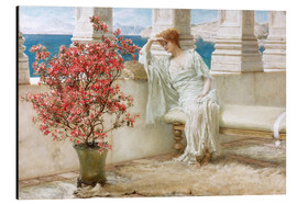 Aluminio-Dibond  Her eyes are with her thoughts and they are far away - Lawrence Alma-Tadema