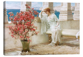 Lienzo  Her eyes are with her thoughts and they are far away - Lawrence Alma-Tadema