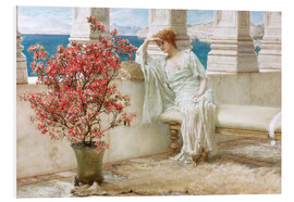 Cuadro de PVC  Her eyes are with her thoughts and they are far away - Lawrence Alma-Tadema