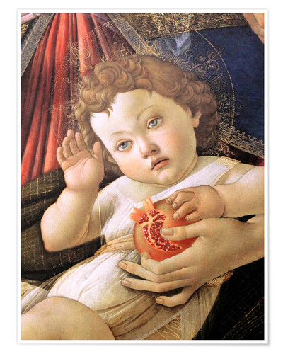 Póster Christ Child from the Madonna of the Pomegranate