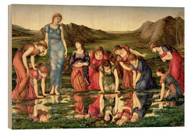 Cuadro de madera  The Mirror of Venus - Edward Burne-Jones