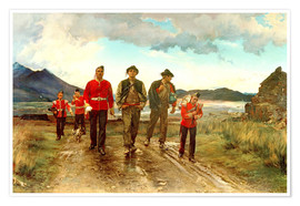 Póster  'Listed for the Connaught Rangers': Recruiting in Ireland, 1878 - Lady Butler