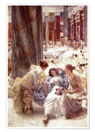 Póster  The Baths of Caracalla - Lawrence Alma-Tadema