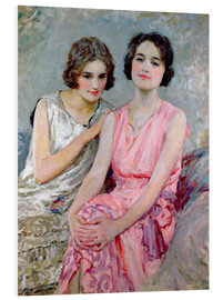 Cuadro de PVC  Two Young Women Seated - William Henry Margetson