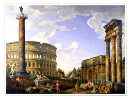 Póster Roman Capriccio Showing the Colosseum