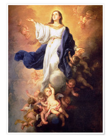 Póster  The Assumption of the Virgin - Bartolome Esteban Murillo