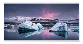 Póster  Eisebergs at Icelands Glacier Lagoon - Andreas Wonisch