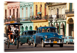 Cuadro de metacrilato  classic us cars in havanna, cuba - Peter Schickert