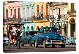 Lienzo  classic us cars in havanna, cuba - Peter Schickert