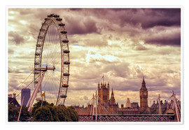 Póster  London Eye & Big Ben - Stefan Becker