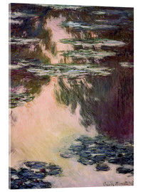 Cuadro de metacrilato  Waterlilies with Weeping Willows - Claude Monet