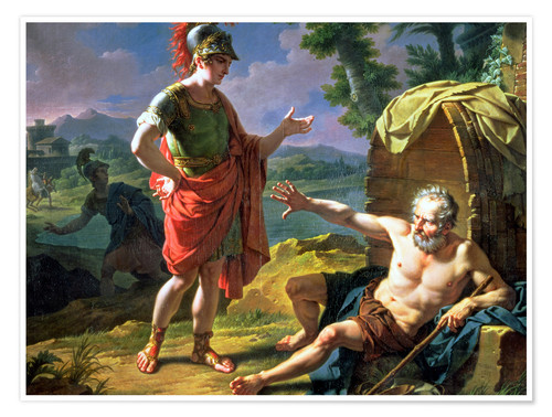 Póster Alexander and Diogenes, 1818