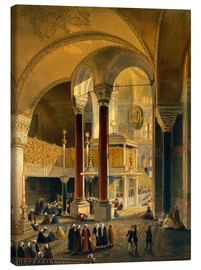 Lienzo  Haghia Sophia, plate 8: the Imperial Gallery and box, engraved by Louis Haghe published 1852 - Gaspard Fossati