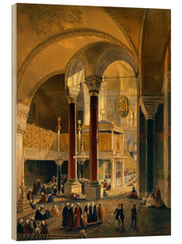 Gaspard Fossati - Haghia Sophia, plate 8: the Imperial Gallery and box, engraved by Louis Haghe published 1852