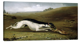 Lienzo  Hare Coursing in a Landscape, 1870 - John Fitz Marshall