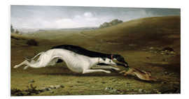 Cuadro de PVC  Hare Coursing in a Landscape, 1870 - John Fitz Marshall