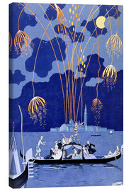 Lienzo  Fireworks in Venice, Fetes Galantes - Georges Barbier