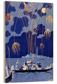 Cuadro de madera  Fireworks in Venice, Fetes Galantes - Georges Barbier
