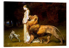 Metacrilato  Una and the Lion, from Spenser's Faerie Queene - Briton Riviere