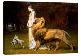 Lienzo  Una and the Lion, from Spenser's Faerie Queene - Briton Riviere