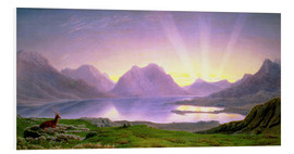 Cuadro de PVC  The Dawn, Loch Torridon - William Turner of Oxford